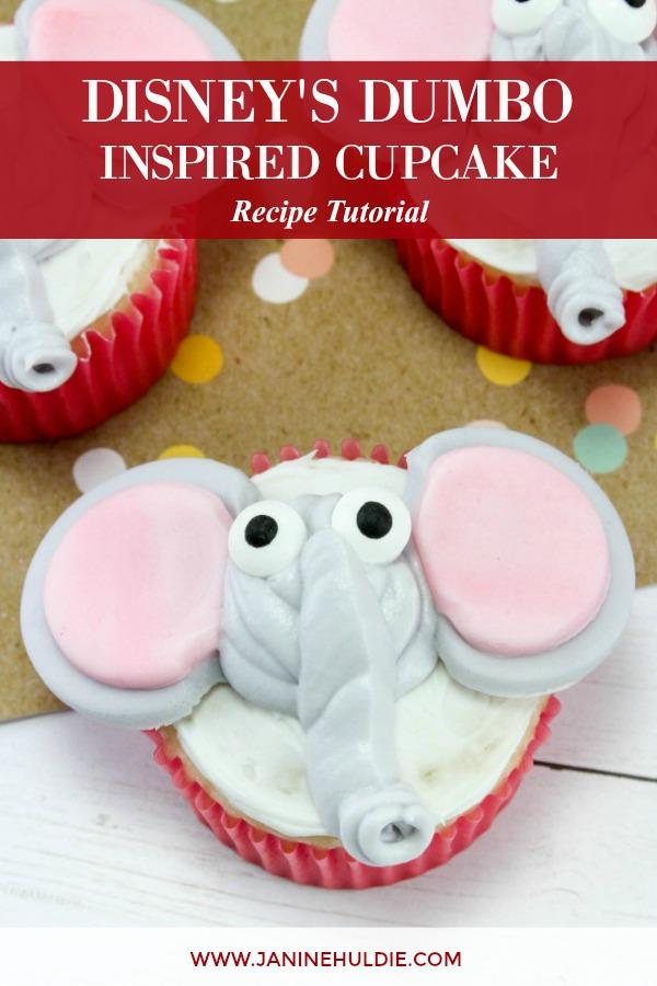 Disney Inspired Dumbo Cupcakes Recipe Featured Image
