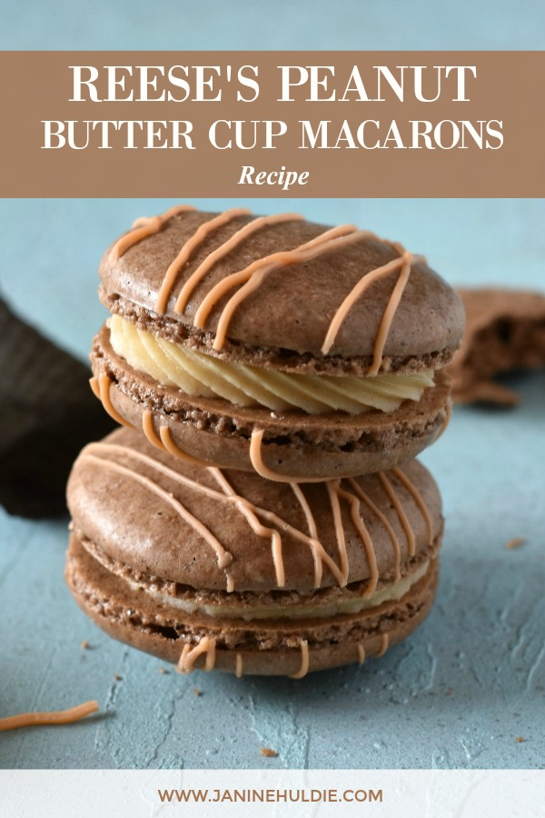 Reeses Peanut Butter Cup Macarons Recipe Featured Image
