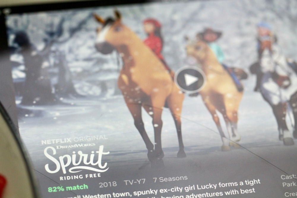 Spirit Riding Free on the iPad 2