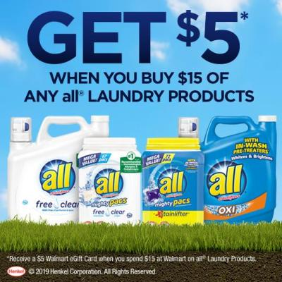 Get $5 Off all Laundry Products