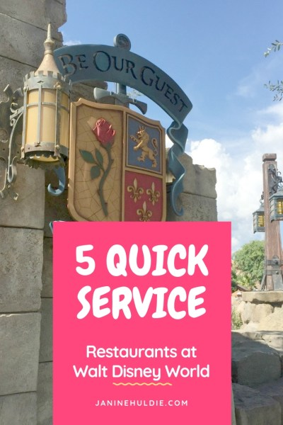 5 Quick Service Restaurants at Walt Disney World