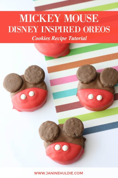 Disney Inspired Mickey Mouse OREO Cookies Recipe Featured Image