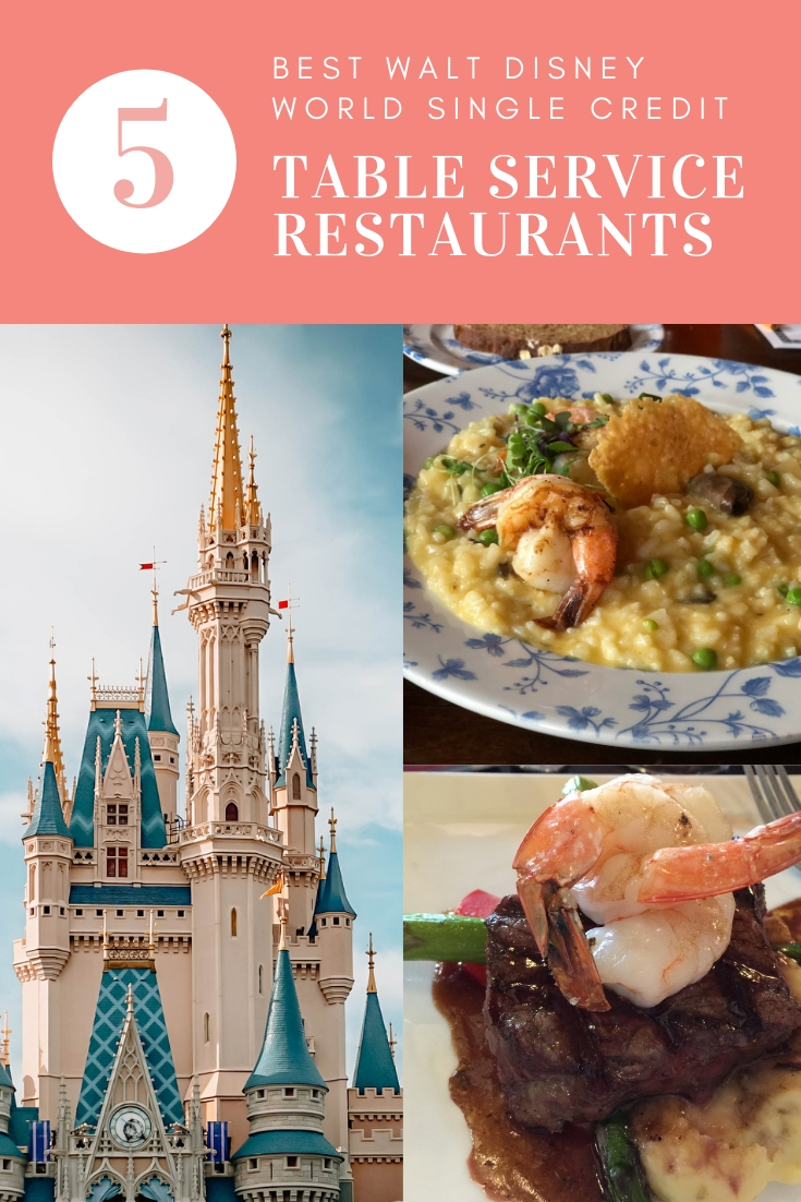 5 Best Walt Disney World Single Credit Table Service Restaurants