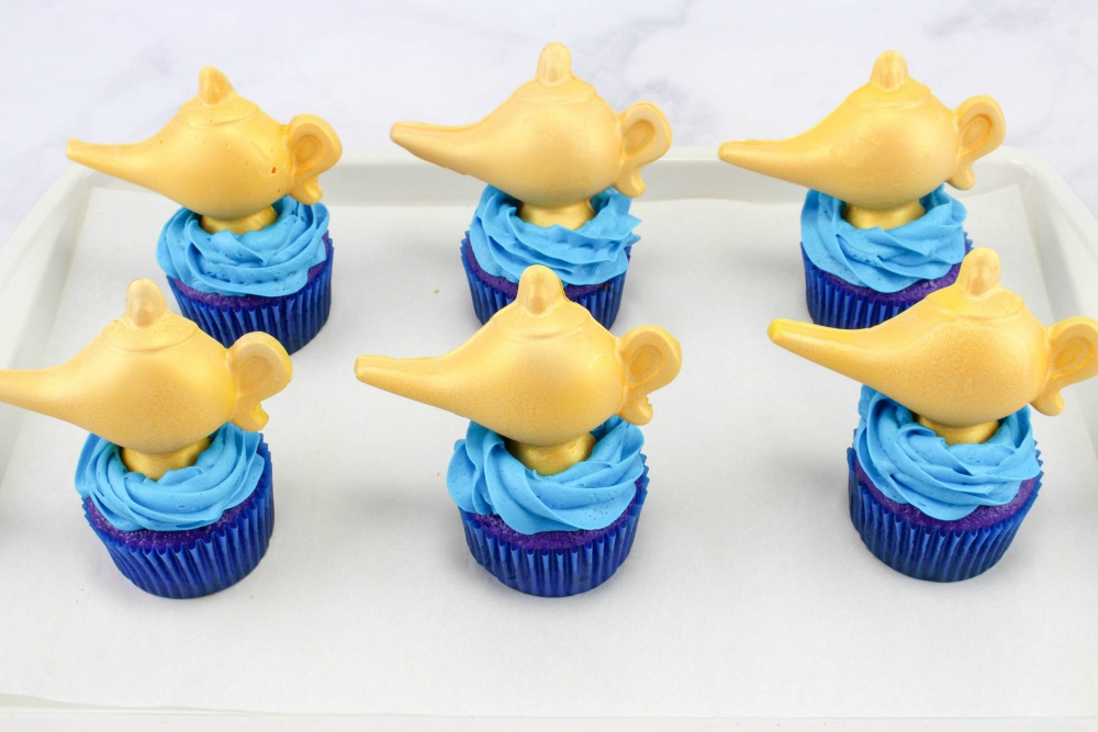 Disney Aladdin Cupcakes In Process 7