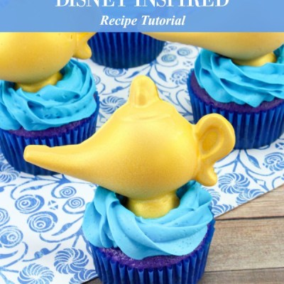 Disney Inspired Aladdin Cupcakes Recipe Featured Image