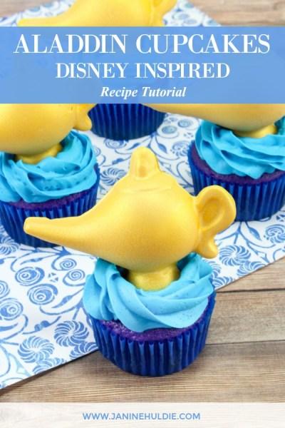 Disney Inspired Aladdin Cupcakes Recipe Featured Image