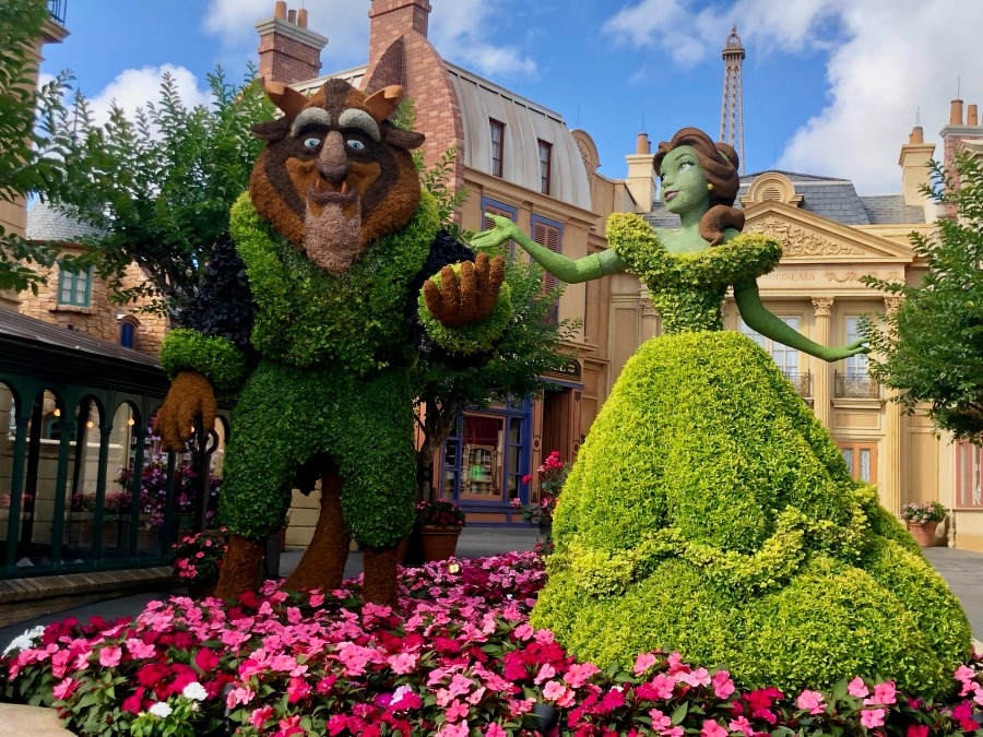Epcot Flower and Garden Festival Beauty and the Beast in France
