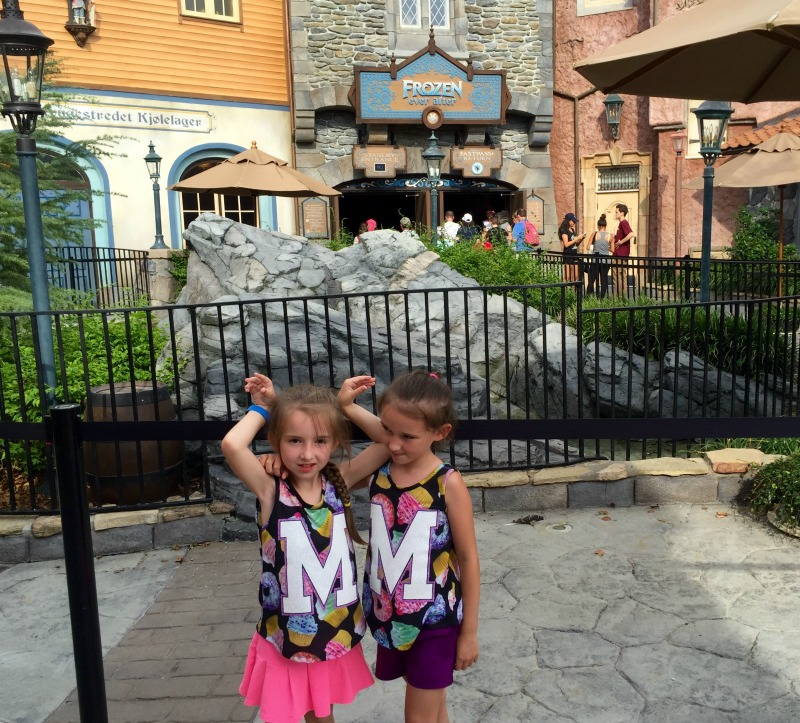 Outside of Frozen Ever After Riding the Ride