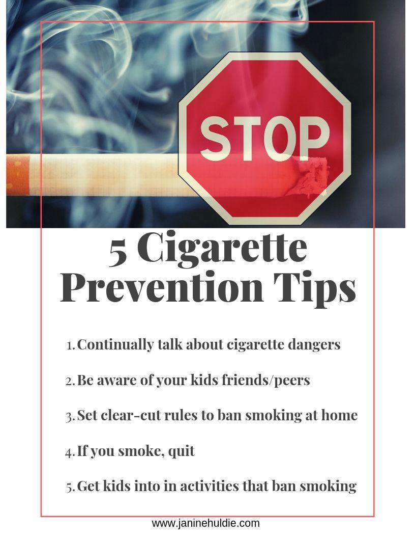 5 Cigarette Prevention Tips