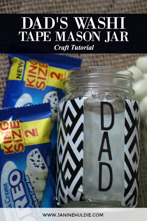 Dad Washi Tape Mason Jar Craft Featured Image