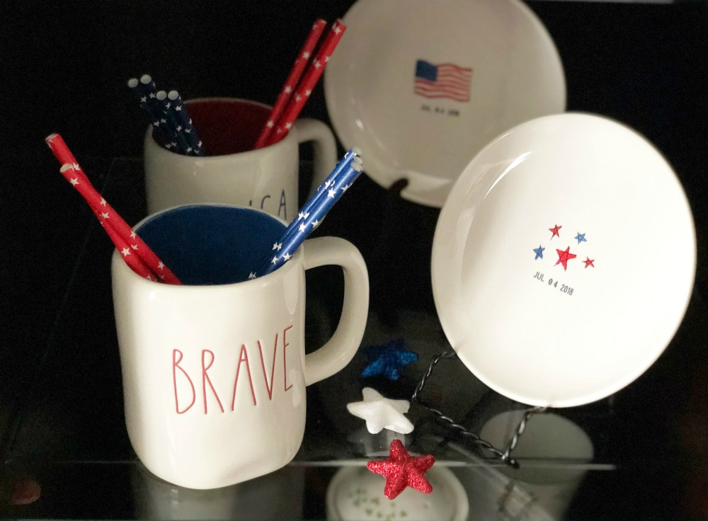 Rae Dunn Brave USA July 4 Decor