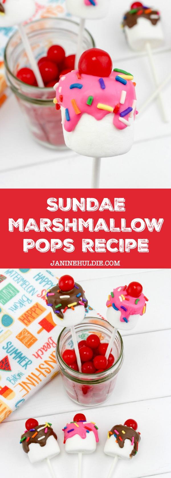 Sundae Marshmallow Pops Recipe