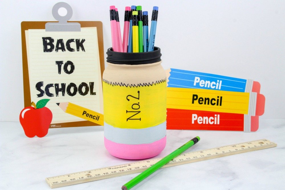 Back to School Pencil Mason Jar Craft Final 1