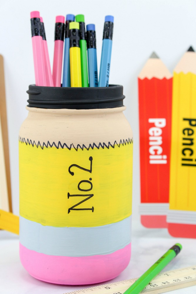 Back to School Pencil Mason Jar Craft Final 4