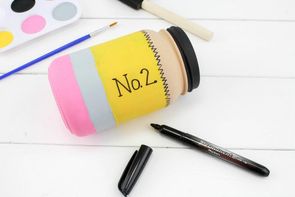 Back to School Pencil Mason Jar Craft In Process 4