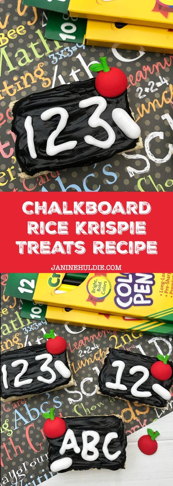Chalkboard Rice Krispie Treats Recipe