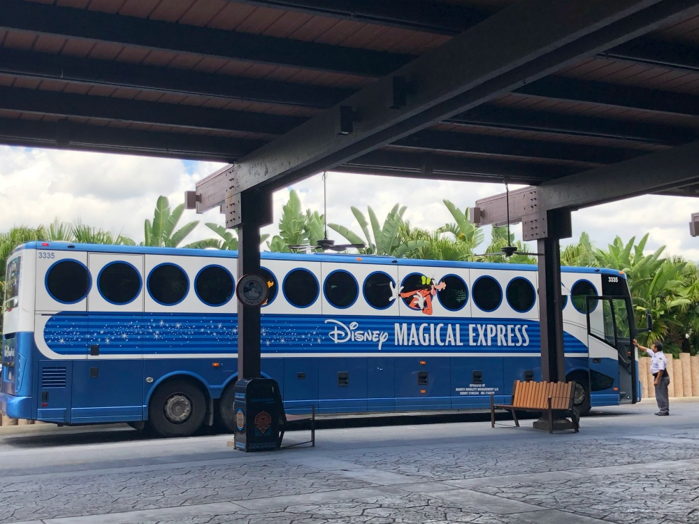 Disney Magic Express Bus In Front Of Disney Polynesian Resort