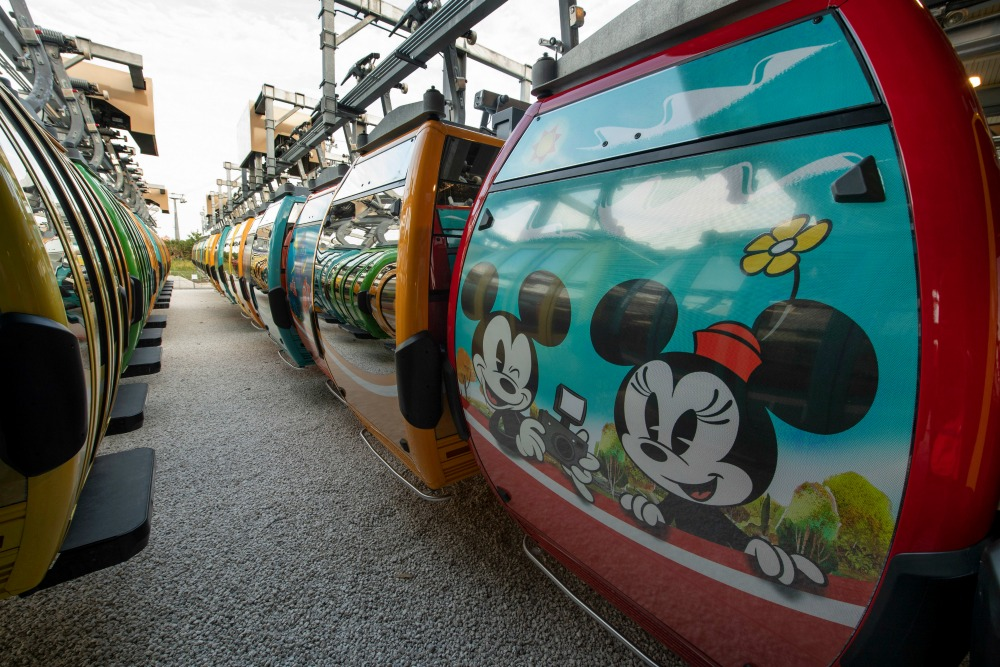 Disney Skyliner Mickey and Minnie Mouse