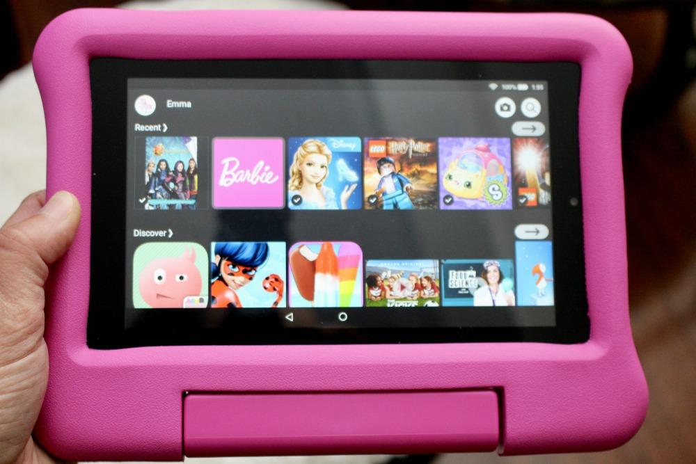 Fire HD 10 Kids Edition Tablet Pink Closeup