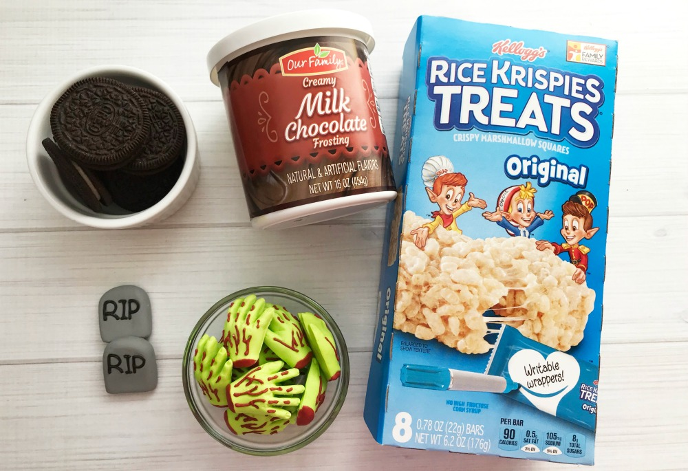 Graveyard Rice Krispie Treats Recipe Supplies