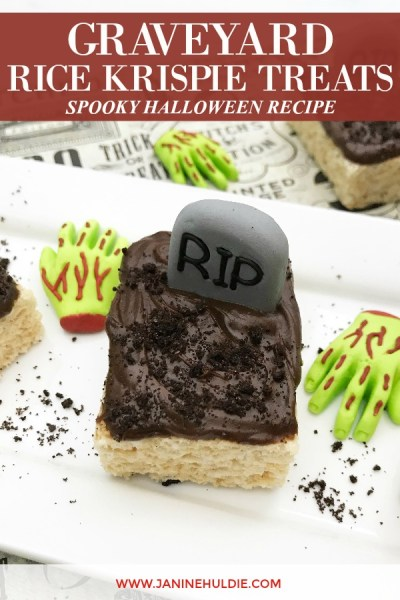 Graveyard Rice Krispie Treats Spooky Recipe Featured Image