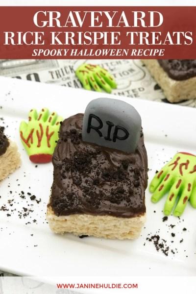 Graveyard Rice Krispie Treats Spooky Recipe Featured Image