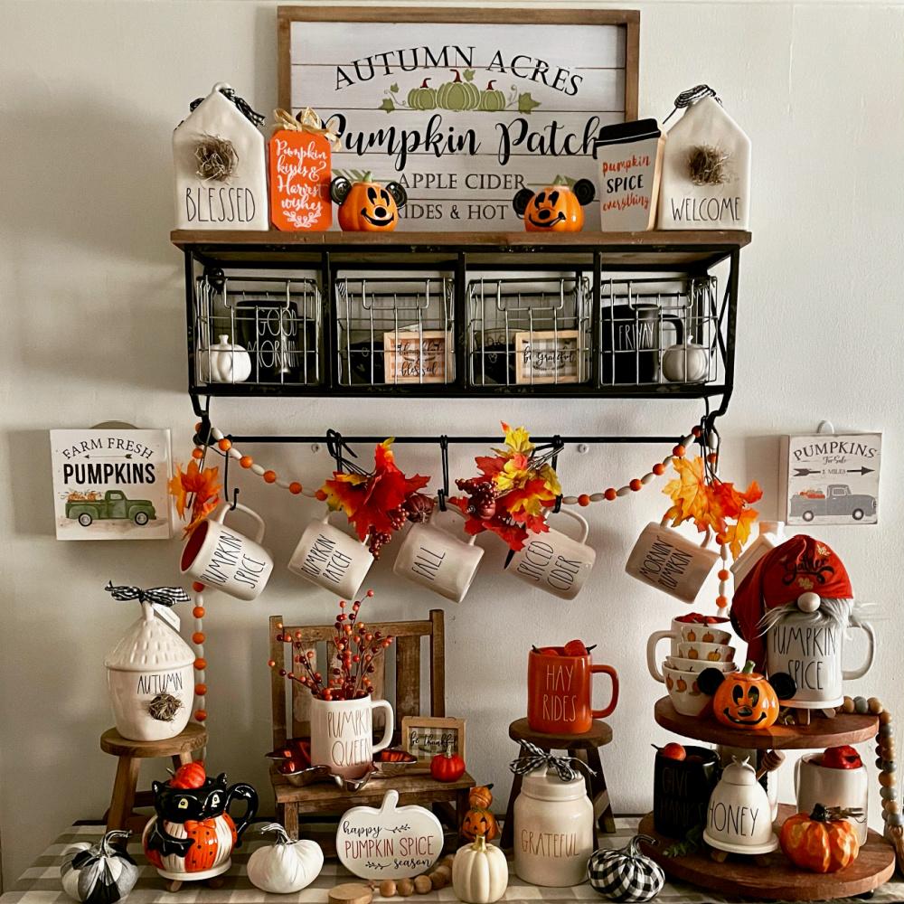 Fall Pumpkin Spice Rae Dunn Coffee Bar