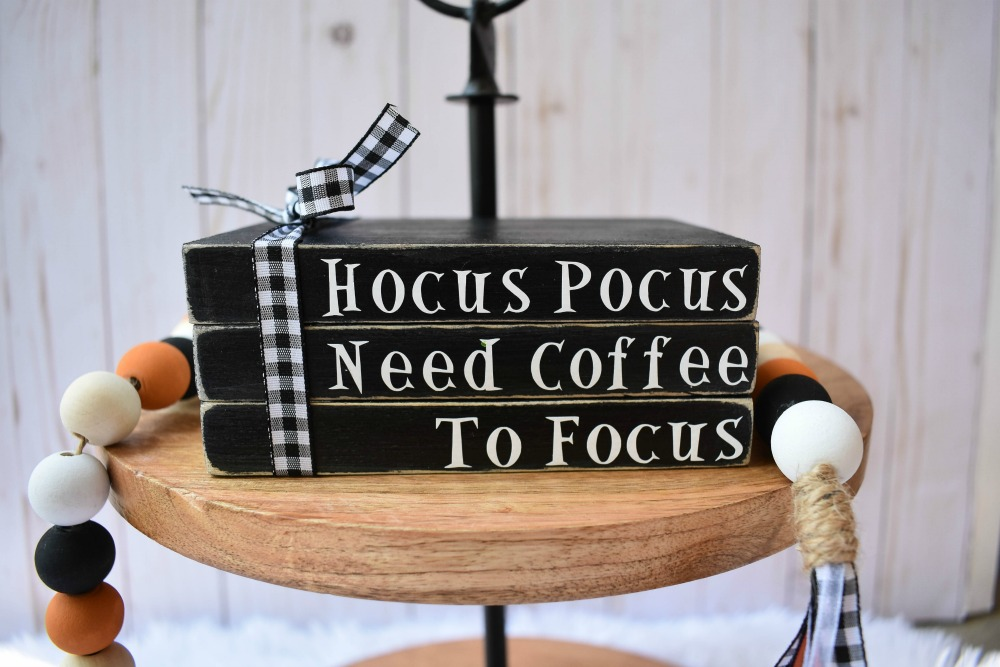 Hocus Pocus Need Coffee to Focus Faux Books on Etsy