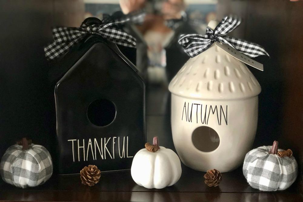 Rae Dunn Thankful and Autumn Birdhouses for Fall HTF