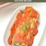 Spinach and Ricotta Cheese Manicotti Recipe Tutorial