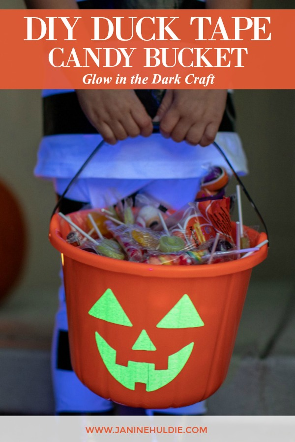 DIY Duck Tape Glow in the Dark Candy Bucket Featured Image