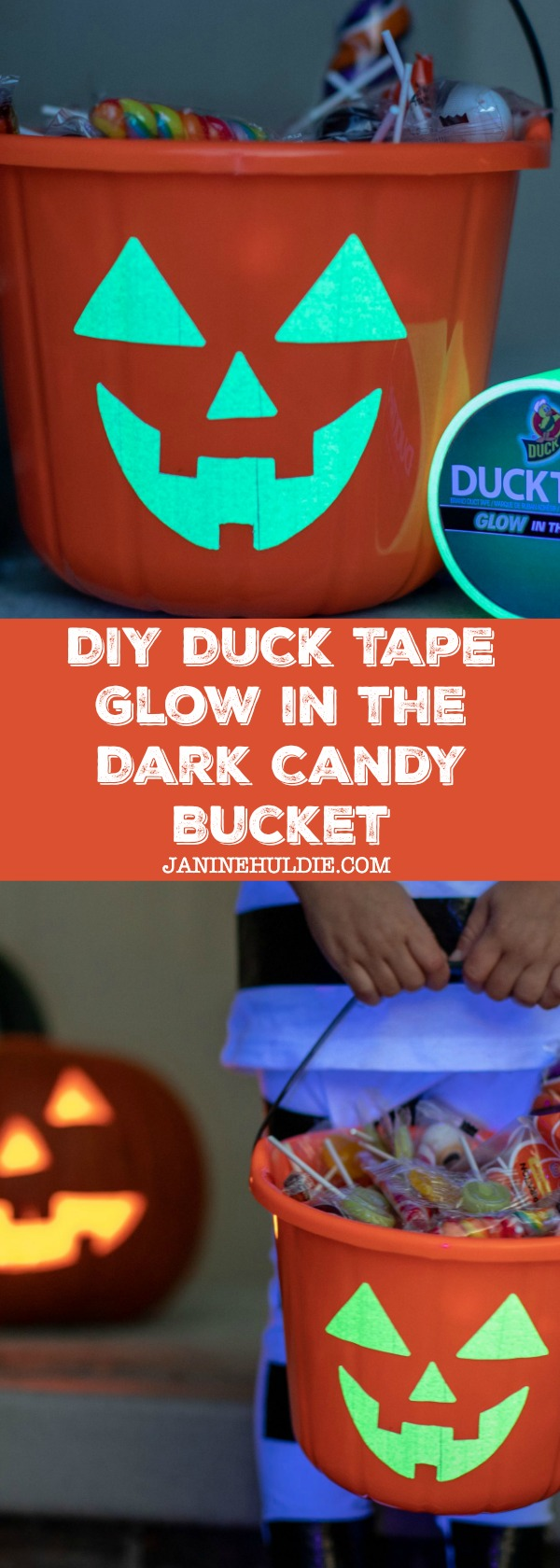 DIY Duck Tape Glow in the Dark Candy Bucket