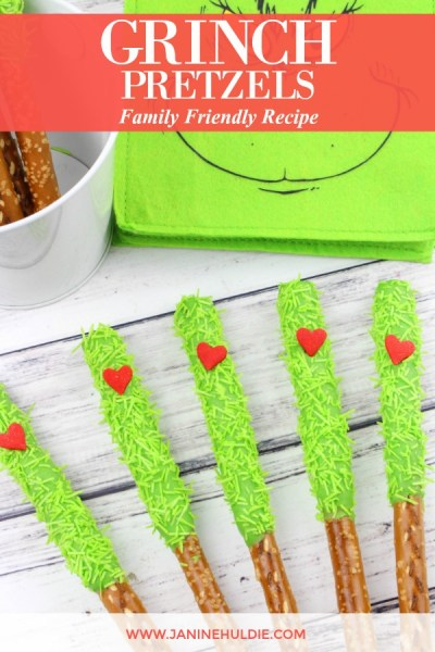 Grinch Pretzels Recipe Featured Image