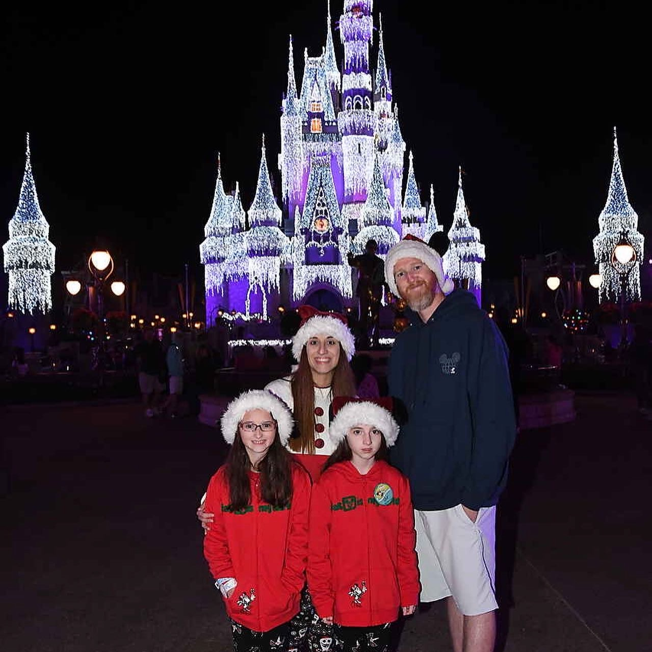 Mickey's Very Merry Christmas Party 2019 Family Pic Castle