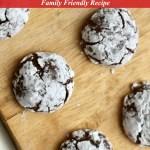 Chocolate Crinkle Cookies Recipe Tutorial