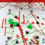 Mickey Mouse Chocolate Christmas Bark Recipe Tutorial