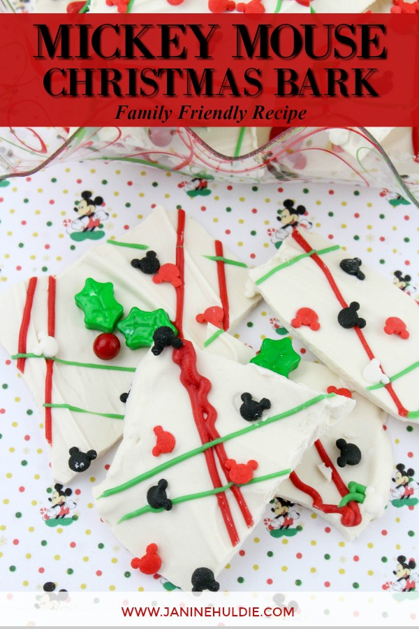 Mickey Mouse Christmas Bark Recipe Featured Image