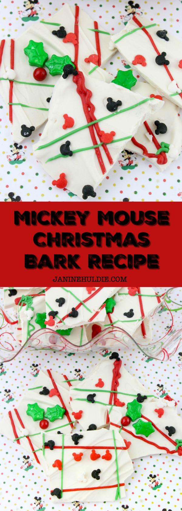 Mickey Mouse Christmas Bark Recipe