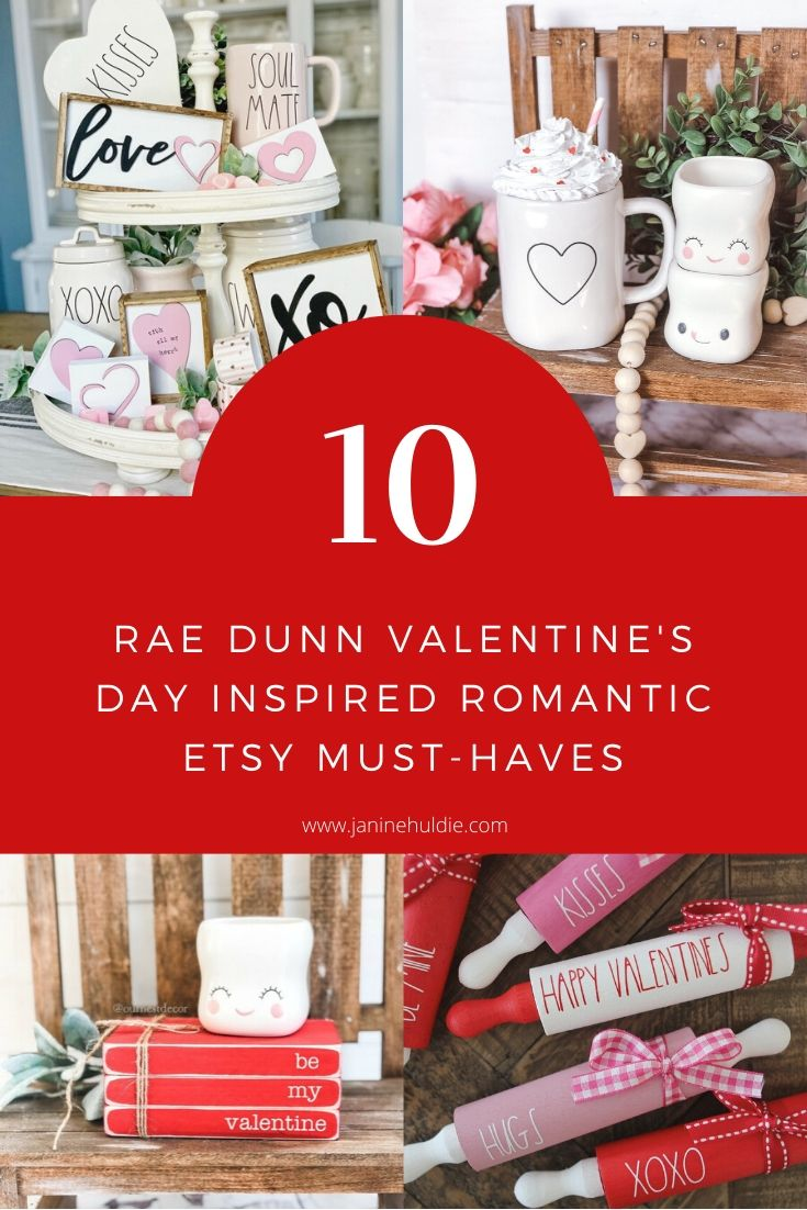10 Rae Dunn Valentine's Day Inspired Romantic Etsy Must Haves