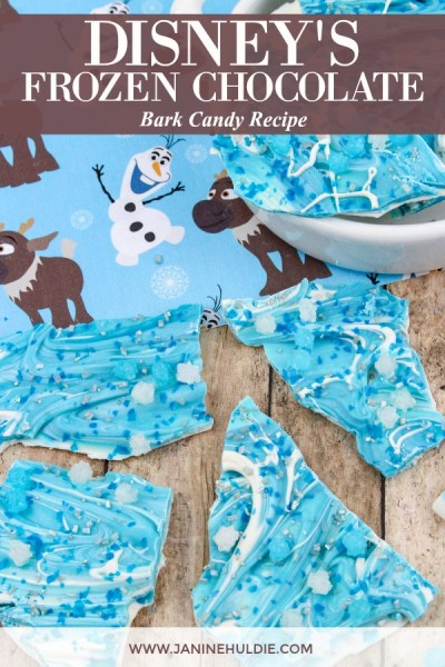 Disney Frozen Chocolate Bark Recipe Featured Image