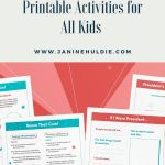 Presidents' Day Printable FREE Activities for Kids