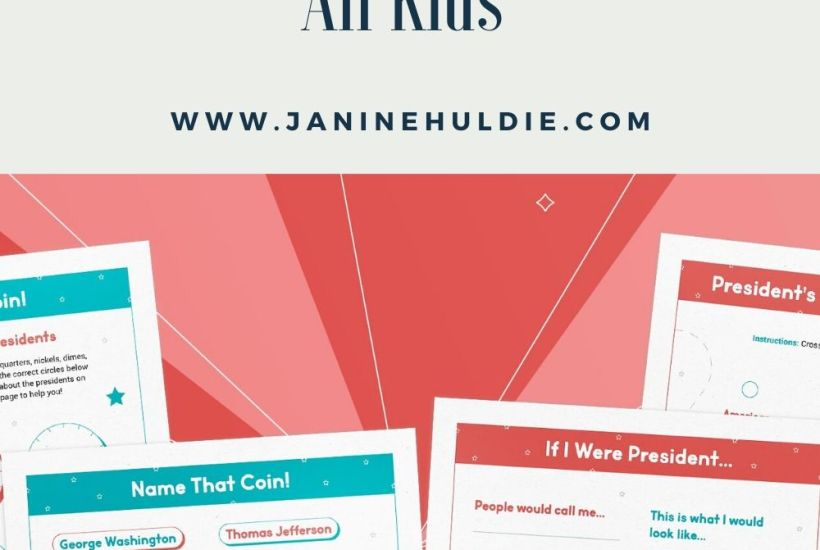 Presidents' Day Printable Activities for All Kids