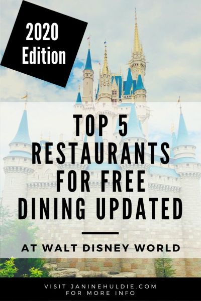 Top Restaurants for Free Dining at Walt Disney World Updated 2020