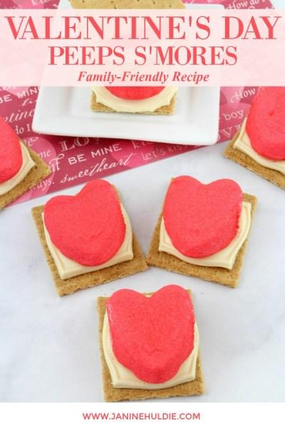 Valentine's Day Peeps S'mores Recipe