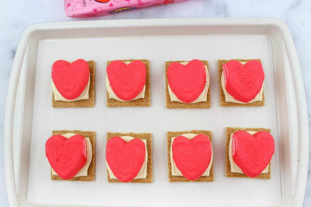Valentine Peeps Smores In Process 4