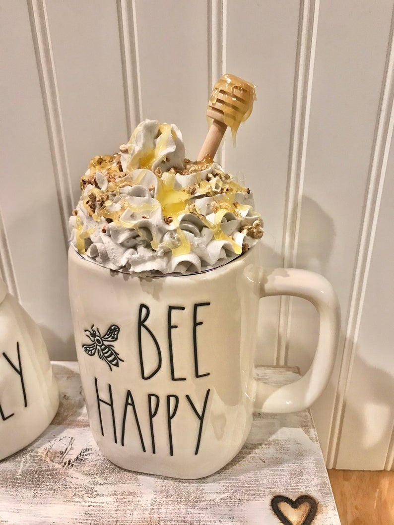 Faux Honey Whipped Cream Topper