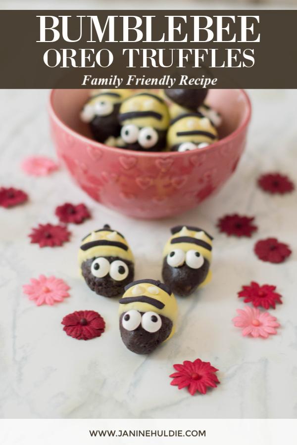 Bumblebee Oreo Truffles Recipe Featured Image