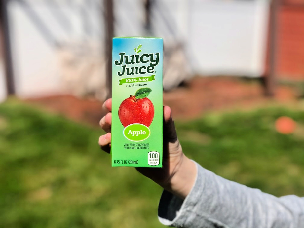 Closeup of Juicy Juice Juice Box
