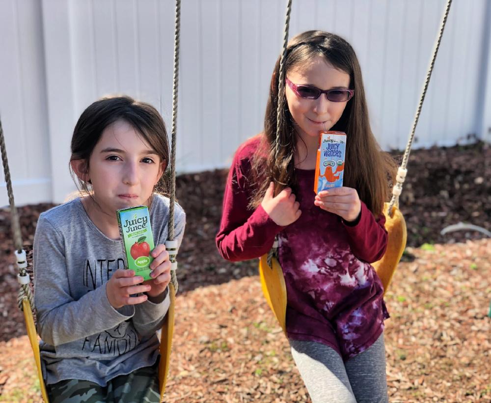 Girls Drinking Juicy Juice