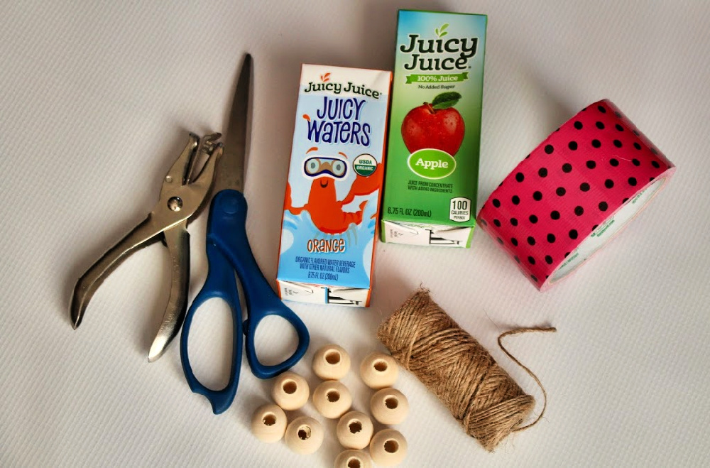 Supplies for Juicy Juice Washi Tape Craft